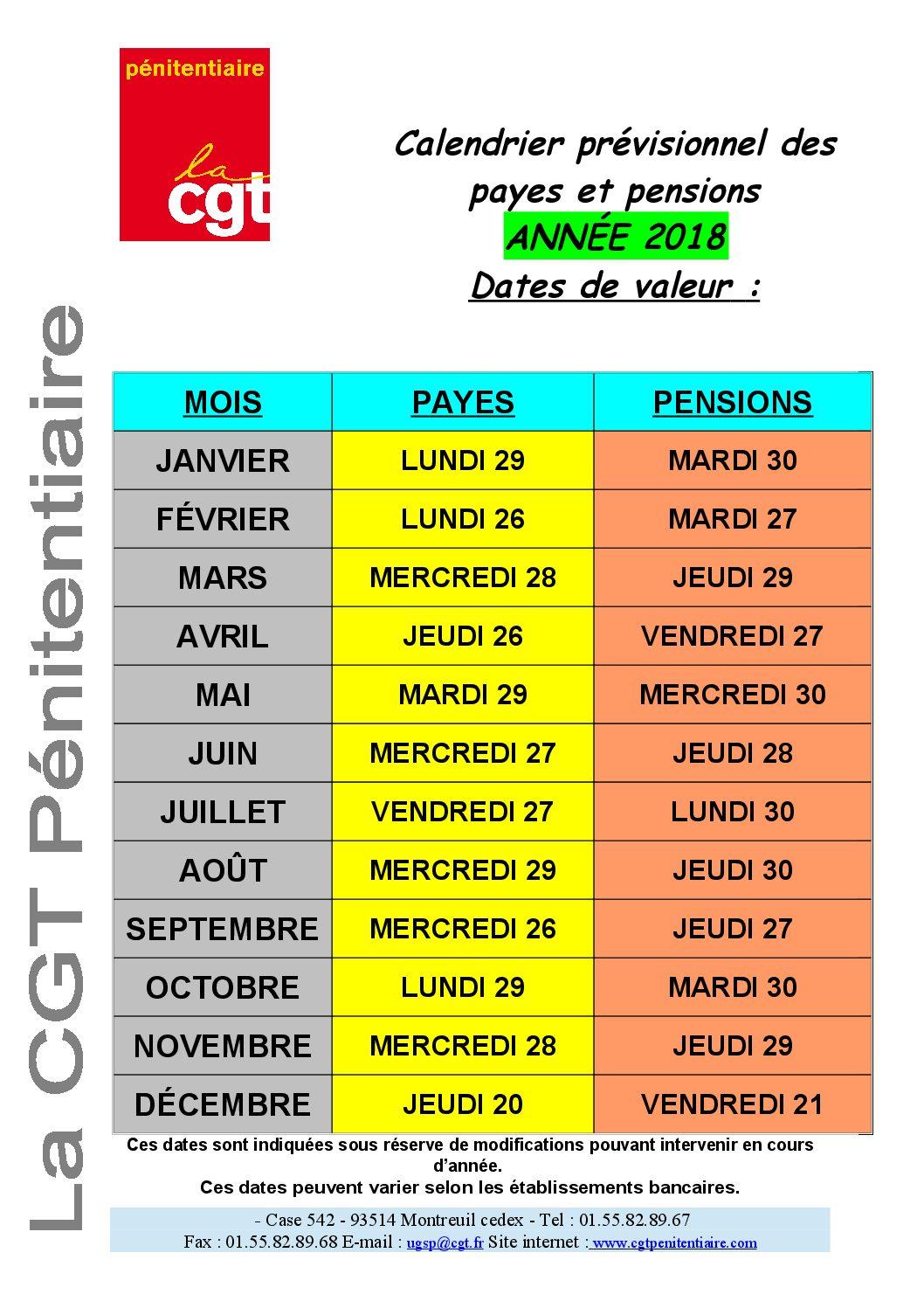 Calendrier paiement salaire fonctionnaire 2016 date des salaires 2016 fonction publuqe - Grille de salaire fonctionnaire ...